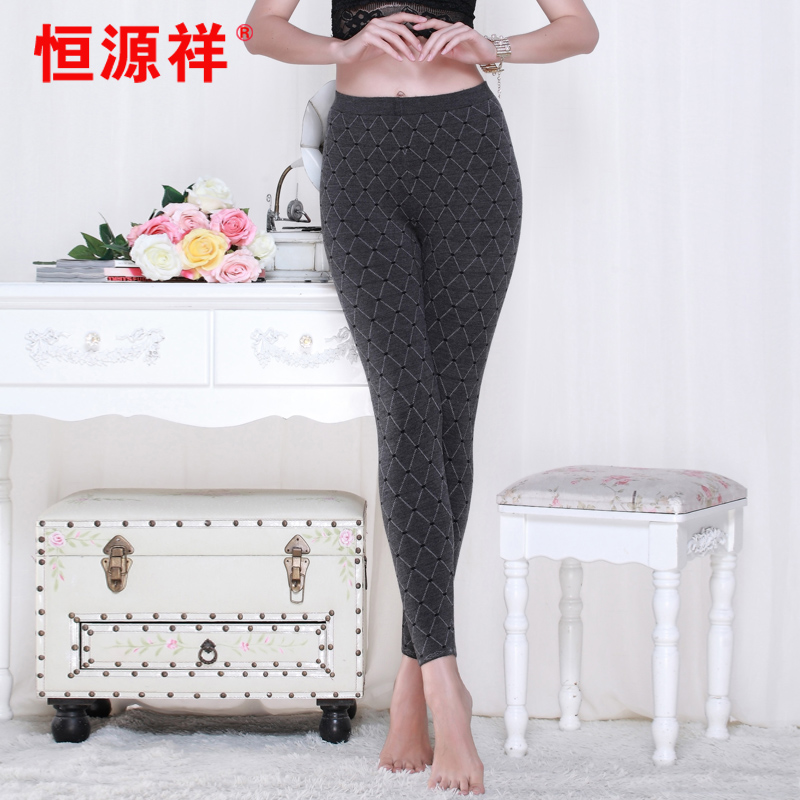 Ms. heng yuan xiang wool pants 2016 winter new korean computer red four points wool pants warm pants