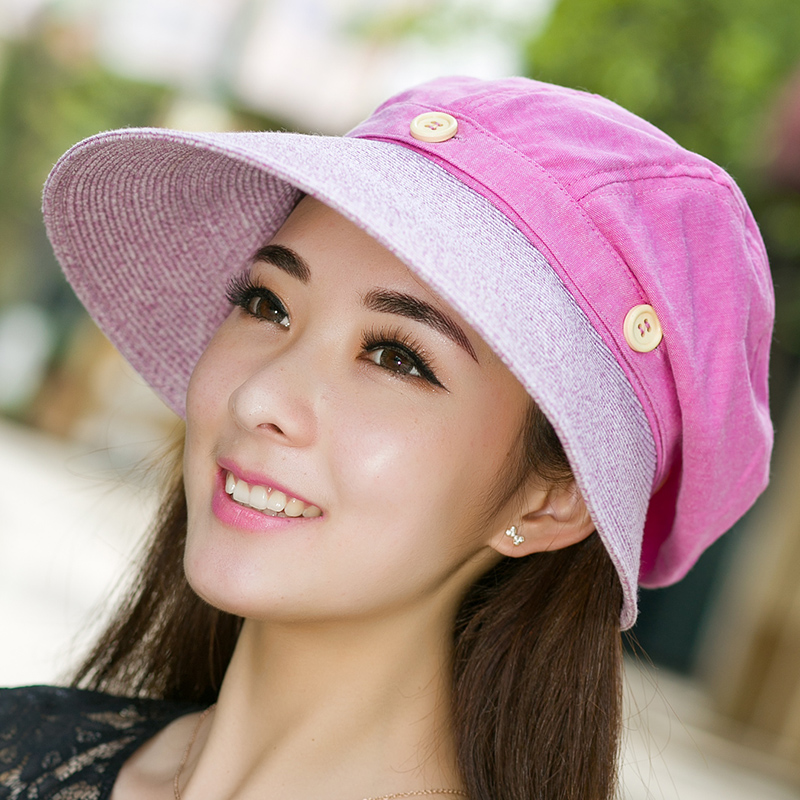 Ms. korean summer sun visor hat uv sun hat large brimmed sun cloth grass mixed anti sai sunbonnet