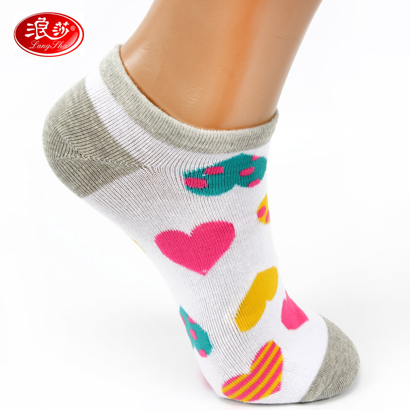 Ms. lang sha sock socks spring and summer low waist short socks sports socks pure cotton socks shallow mouth socks combed cotton socks thin section