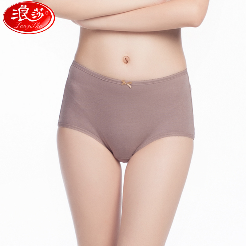 Ms. lang sha underwear waist cotton solid color bow ladies underwear briefs sexy big yards elastic in the years