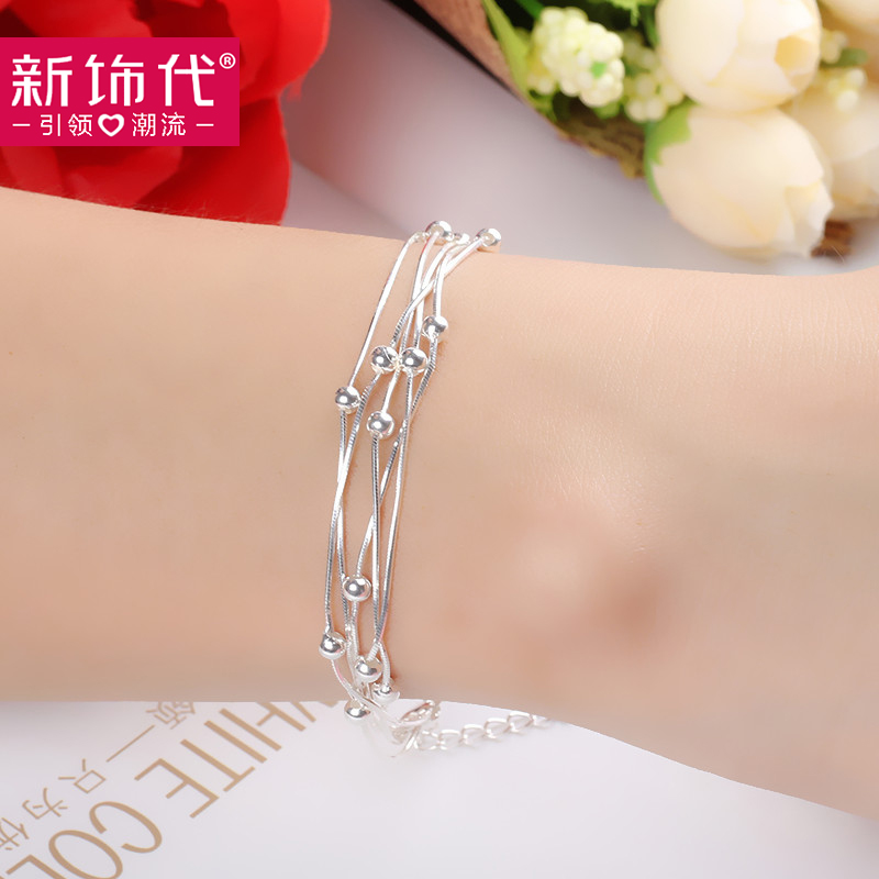 Ms. sterling silver zodiac 99 fine silver bracelet japanese and korean version of sweet jane about multilayer silver jewelry lovers birthday gift