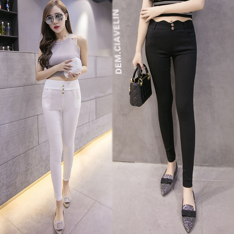f5c2259d25b9a6 Get Quotations · Ms. thin section korean version of outer wear leggings  stretch pencil pants spring and autumn