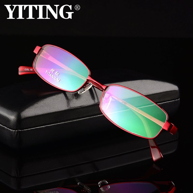 Ms. ultralight titanium full frame glasses frame eye box frames female female oval frame mirror with myopia glasses men