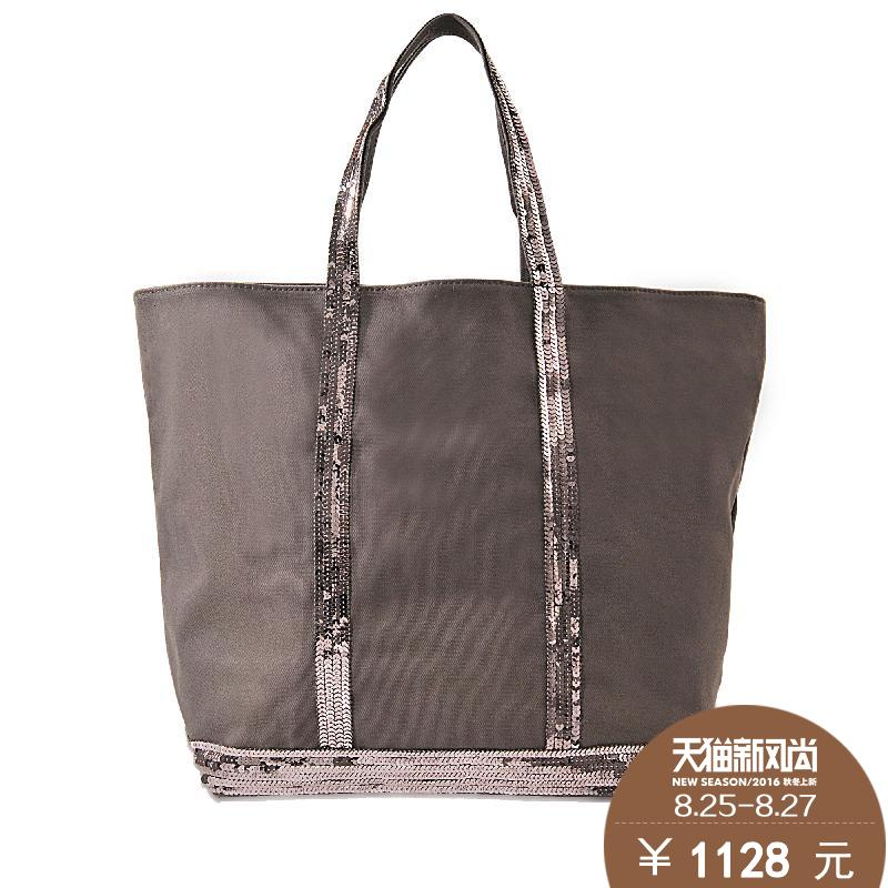Ms. vanessa bruno BRU006019 tóth zipper canvas tote bag medium bag