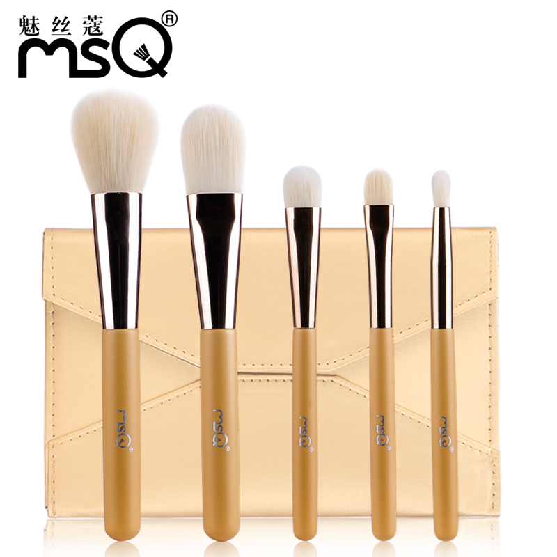 Msq/charm wire kou 5 makeup brushes makeup brush set makeup brush kit bag envelope new bulbul 39492