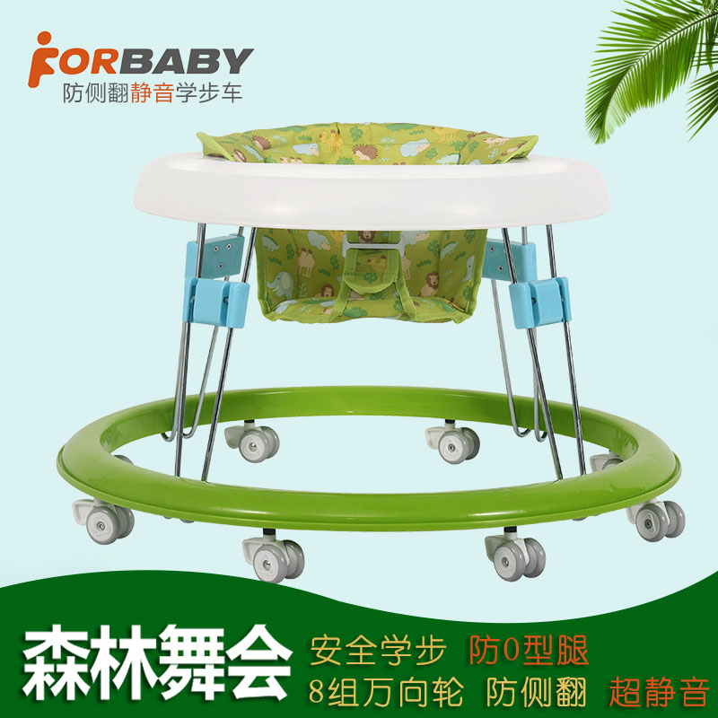 Multifunctional baby infant child baby walker 6-7-18 months push walker folding rollover