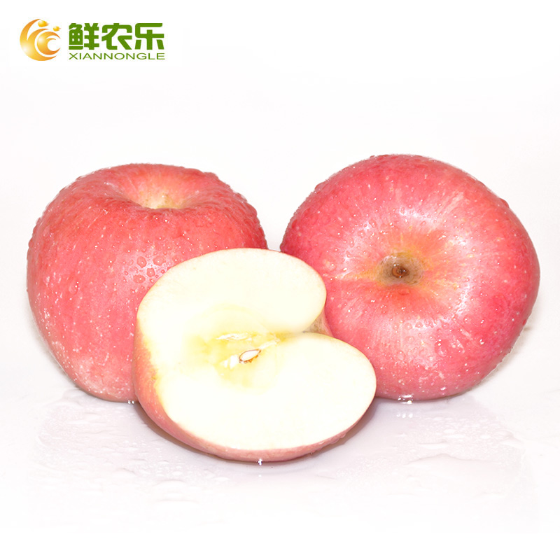 [Music] farming fresh shandong yantai red fuji apple about 2.2 kg/4 christmas red apple fruit fresh fruit