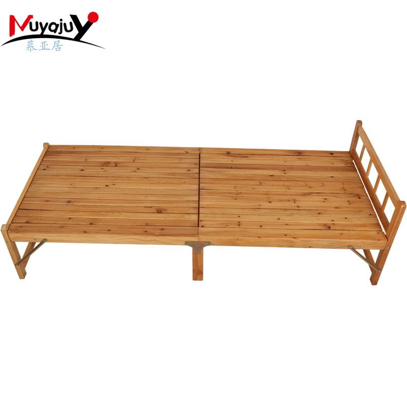Muya habitat office reinforced folding bed single bed siesta bed wooden bed wood bed pine wooden specials