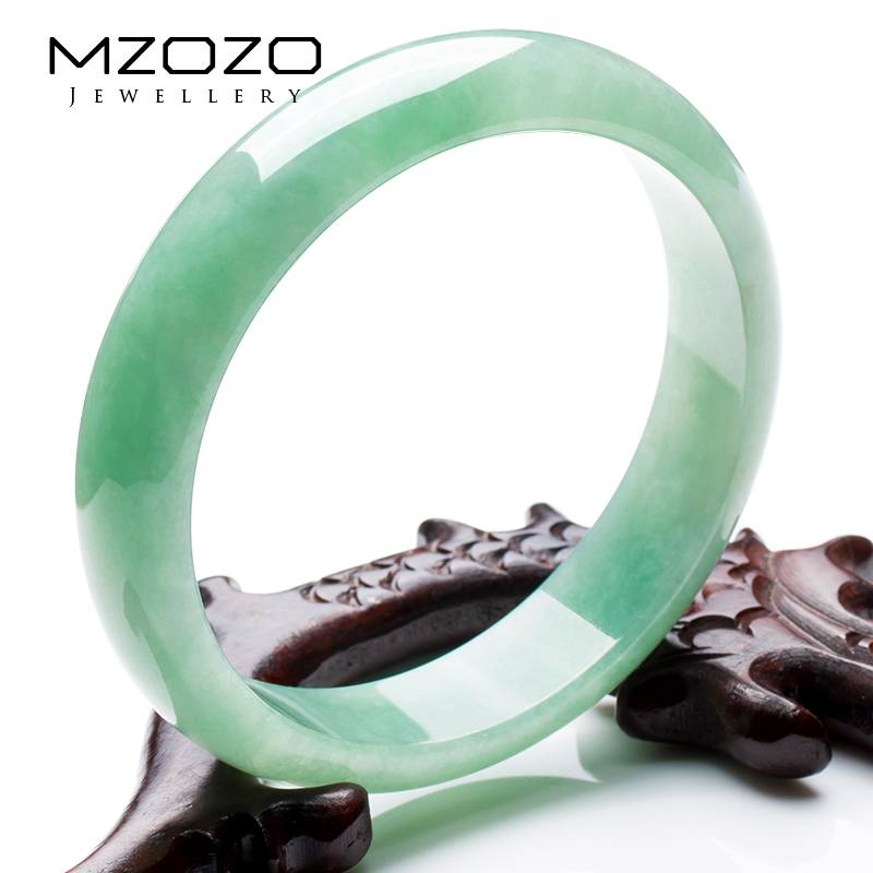 Mzozo natural jade bracelet female models a cargo of ice waxy kinds of jade bracelet genuine jade bracelet with a certificate