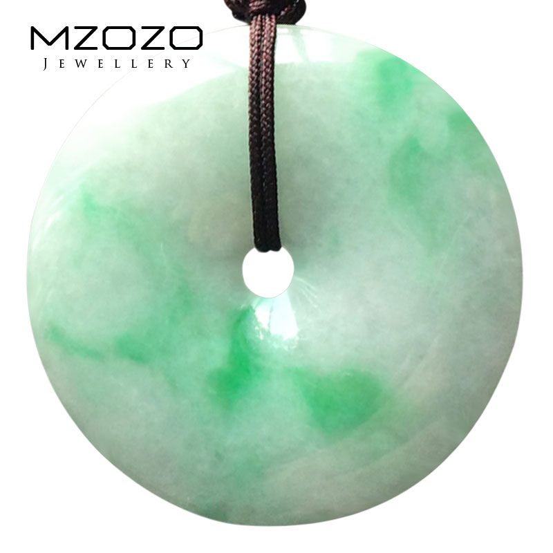 Mzozo/wheat beads a cargo of natural jade peace buckle jade pendant waxy kinds of ice myanmar jade pendant pendant