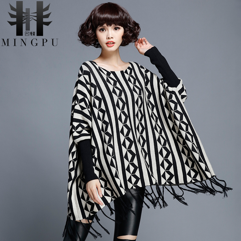 Name pu 2016 new winter sweater hedging big yards fat sister was thin bat sleeve sweater korean version of the diamond sweater