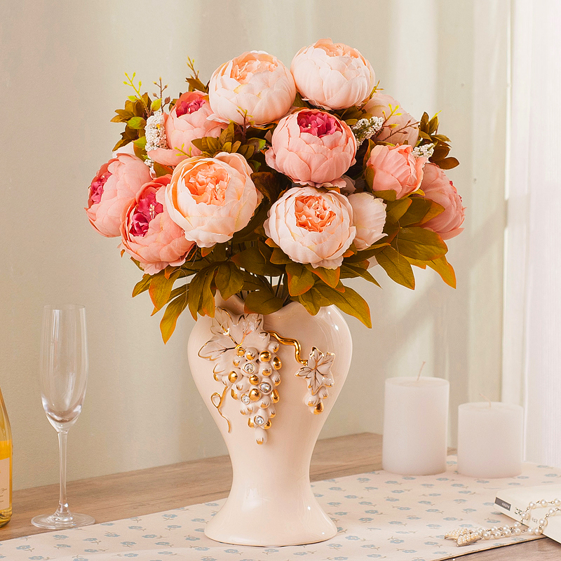 Name pull dried floral floor living room modern minimalist fashion creative ceramic vase ornaments home decorations