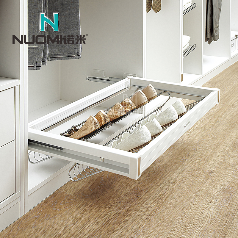 Get Quotations Naomi Cloakroom Sliding Shoe Closet Wardrobe Hardware Accessories Basket With Damping Rail