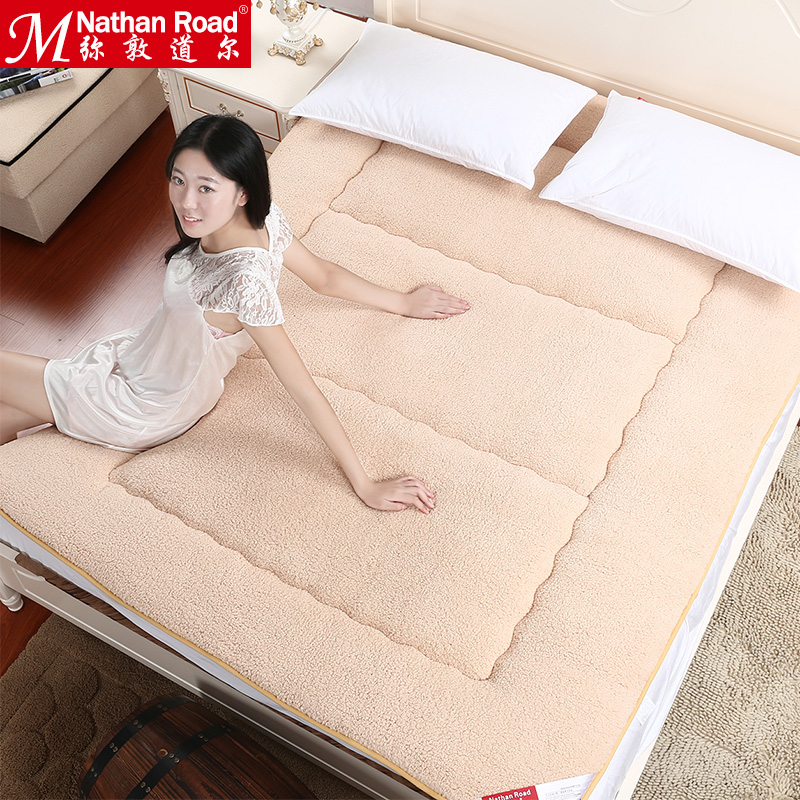 Nathan jai thick warm sherpa tatami mattress single or double mattress bed mattress pad warm bed mattress pad