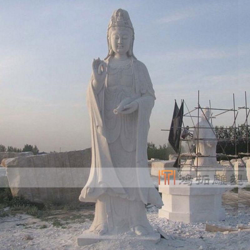 Natural stone marble dripping guanyin buddha buddha buddha buddha lotus pedestal base crafts ornaments DS057