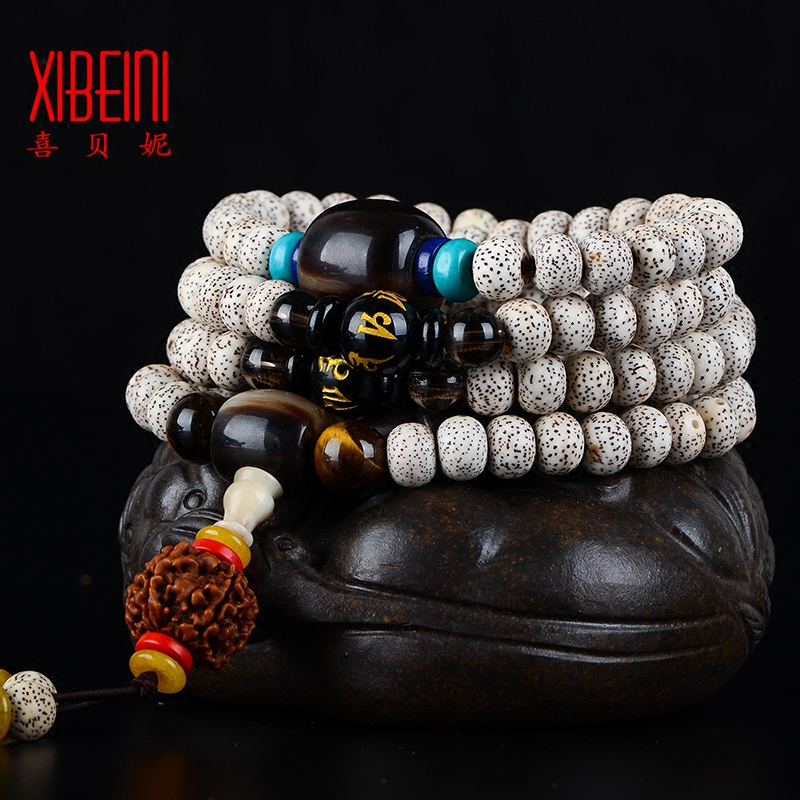 Natural xingyue pu tizi a + xingyue bodhi 108é¢lunar January bracelets national wind bracelet necklace men and women