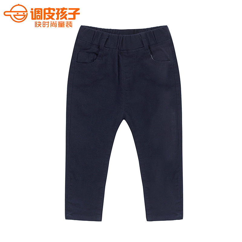 Naughty child kids 2016 spring new korean version of casual pants children in the children of men and children cotton long pants thin