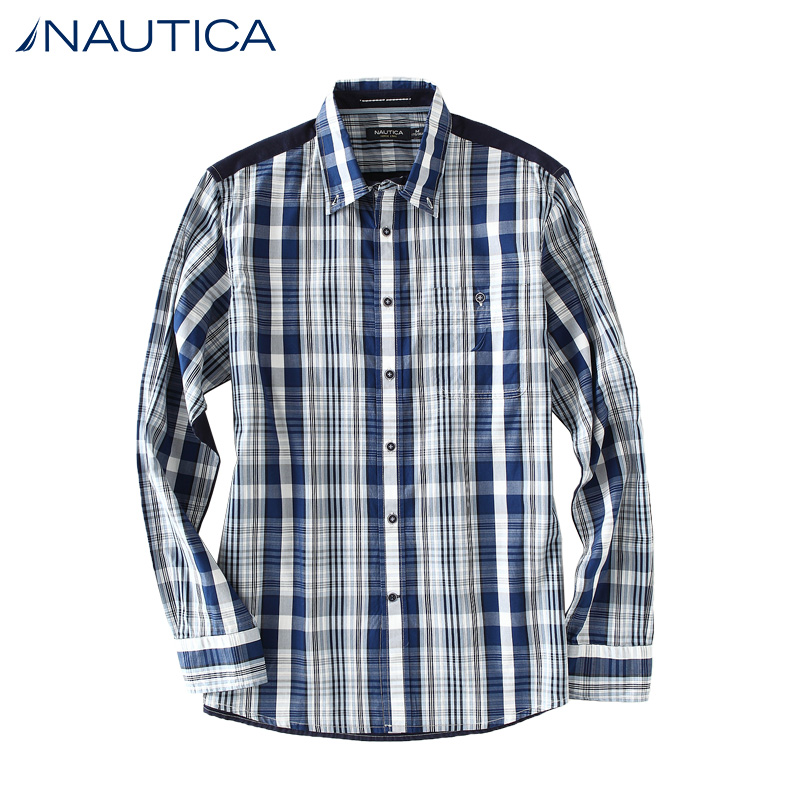 Nautica/nautica 14 years dongkuan men's urban casual cotton long sleeve shirt W43502