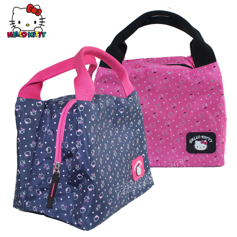 d238490aa308 Get Quotations · New authentic hello kitty children s lunch bag hand carry  bag kt cartoon cute girls small bag