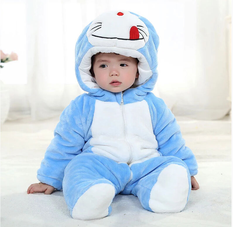 New baby coveralls romper infants and young children out of men and women long sleeve cotton baby close crotch climbing clothes fall and winter thick
