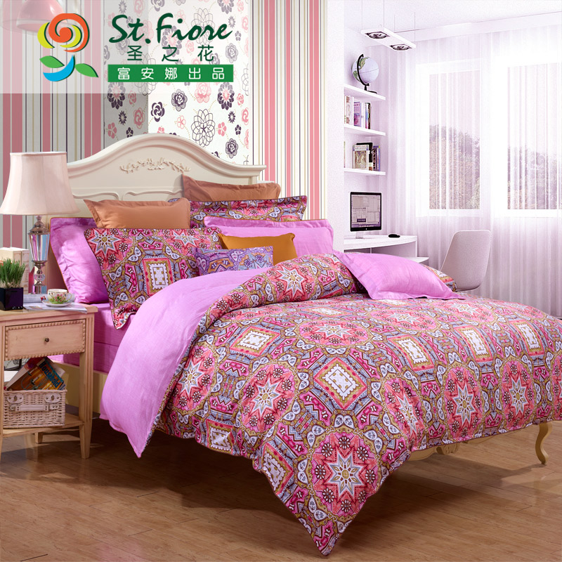 New flower st. anna rich textile cotton denim cotton bed linen quilt cover piece fall and winter fantasy temporal