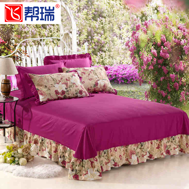 New korean version of the help swiss style bedspread bed enterprises bed linen double single piece of cotton bed linen bedding cotton linens paragraph lace