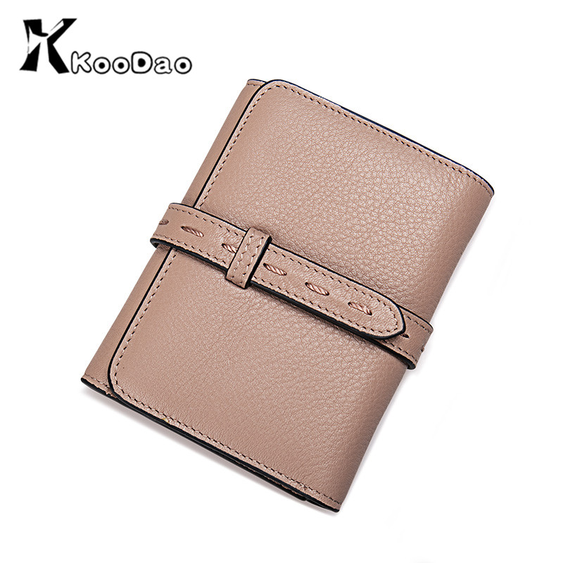 New korean version of the simple KooDao2016 leather wallet female short paragraph ms. purse wallet japan and south korea