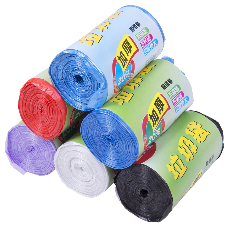 New material thicker medium plus tough break even roll style home hotel garbage bags free shipping