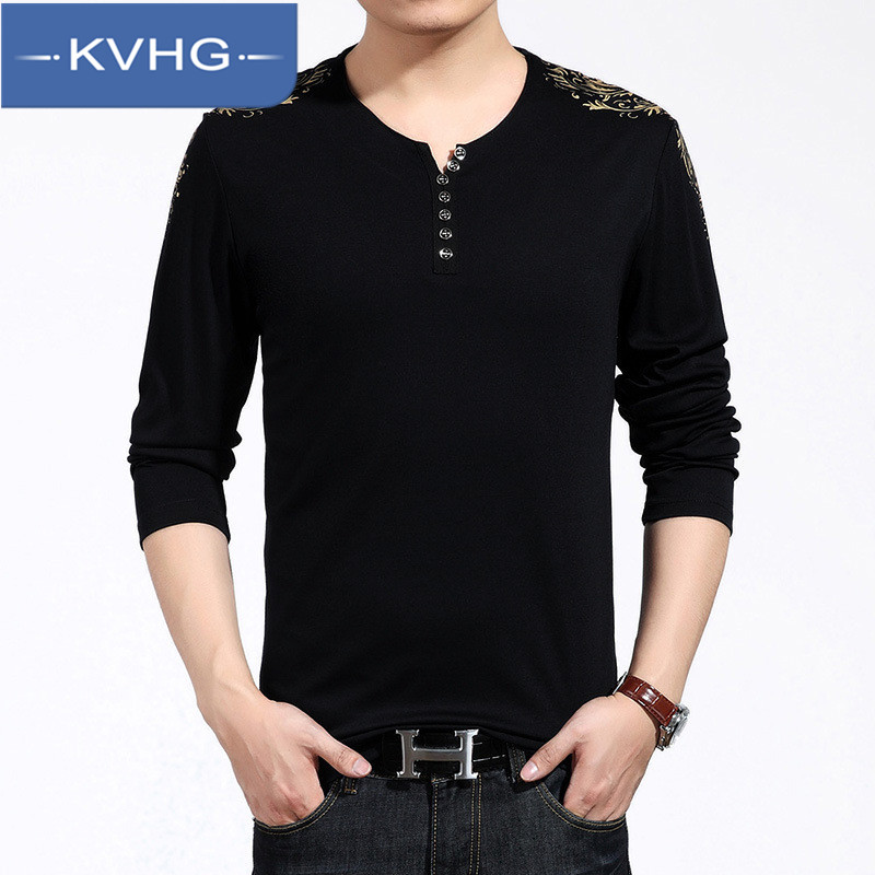 New men's fashion men's v-neck sweater knit sweater KVHG2016 hundreds of the ride thin section hedging loose t-shirt 6882