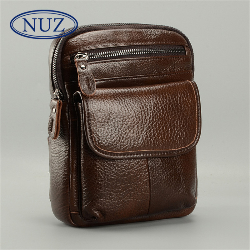 New men's NUZ2016 hong kong brand first layer of leather multifunction leather chest bag outdoor bag shoulder bag 1319