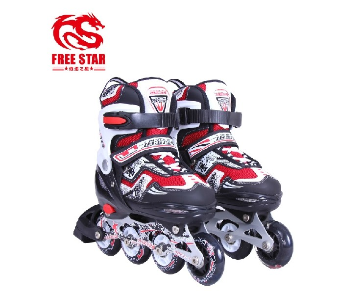 New preferential happy junichiro koizumi size adjustable roller skates children flash inline skates roller skates skate wheel slip shoes