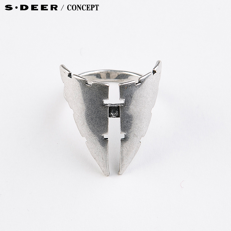 [New] sdeer st. dior counters authentic modern sense of geometric decorative ring S16184338