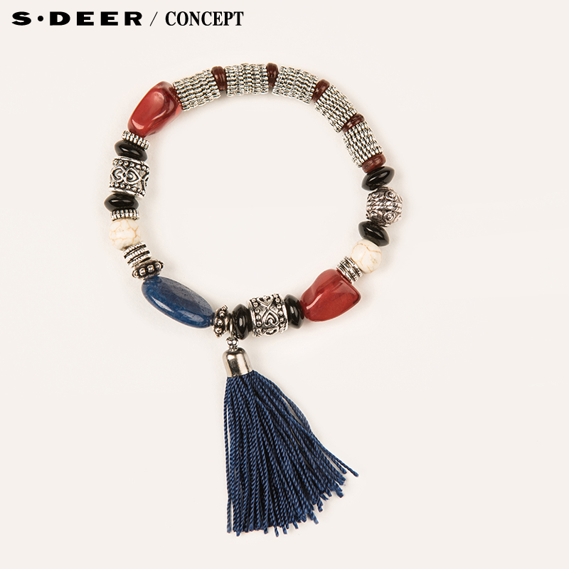 [New] sdeer st. dior counters authentic women's national wind beaded bracelet decorated S16284353
