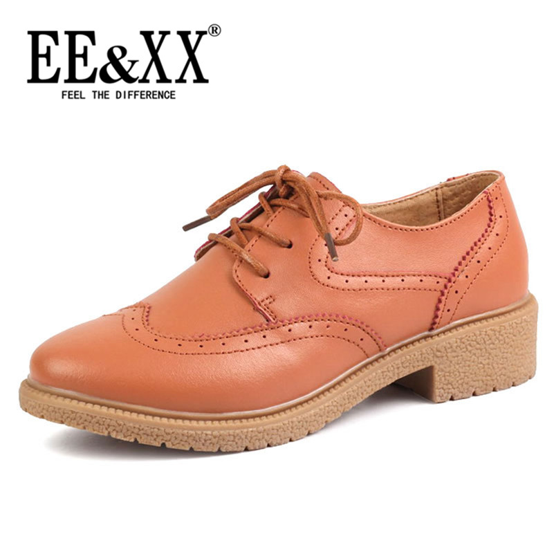 New spring fashion EEXX2016 comfortable british style deep mouth round low shoes flat shoes with solid 6475