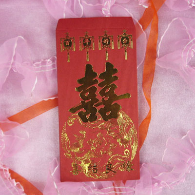 New style ~ creative bronzing lee is closed envelopes hi word marriage red envelopes 10 rose red dress