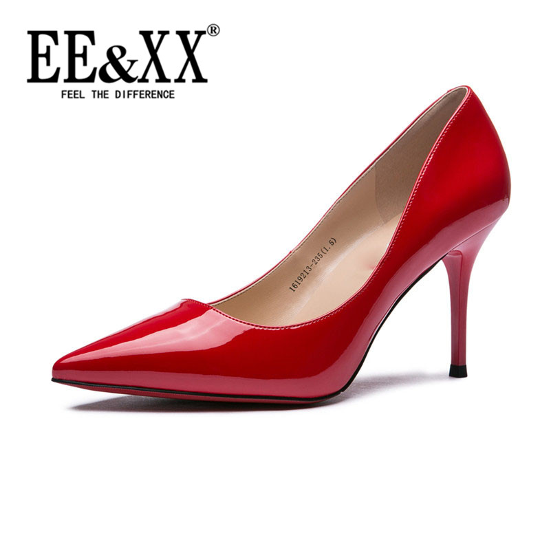 New stylish and comfortable EEXX2016 hornskin elegant pointed shallow mouth fine with low shoes casual shoes tide 7246