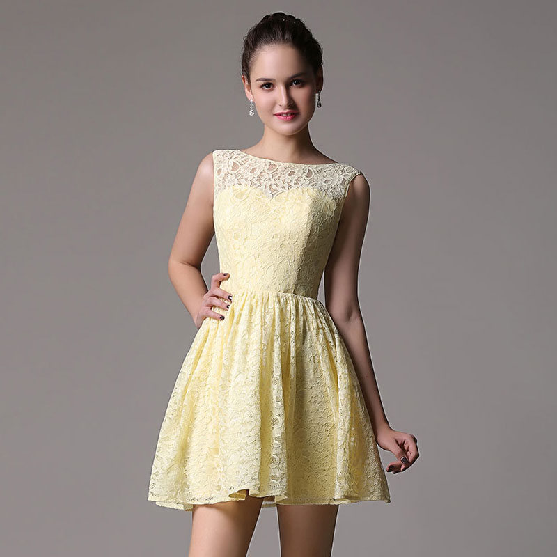 0b64476120b Get Quotations · New sweet pale yellow rani v-shaped sleeveless halter dress  bridesmaid dress was thin short