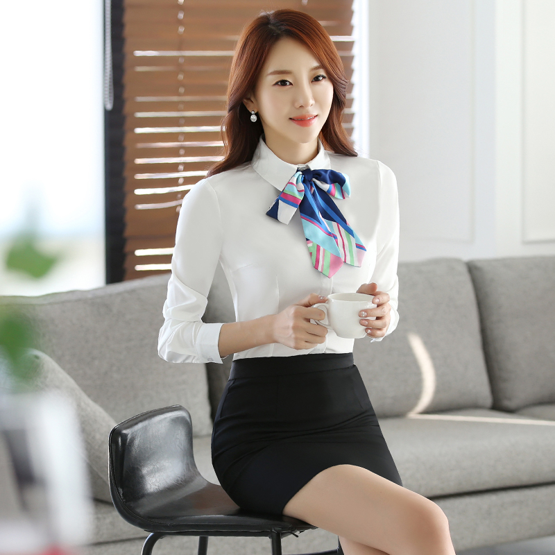 dd8a999a007 Get Quotations · New women s wear skirt suits career suits overalls  interview tooling business suits long sleeve white shirt