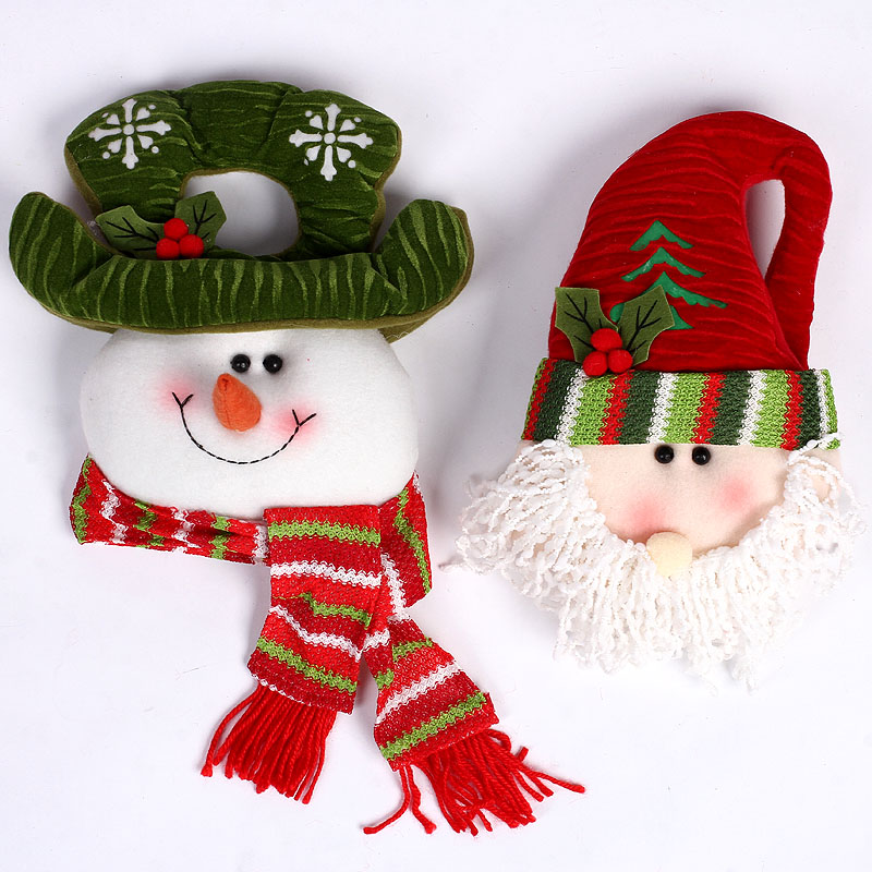 New year decoration new year spring festival supplies santa claus snowman christmas tree ornaments christmas decorations christmas wreath door hanging