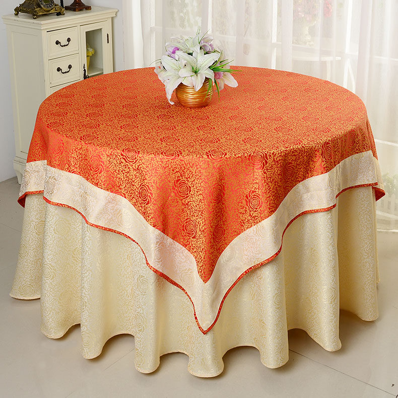New Yellow Red Double Upscale Hotel Continental Hotel Tablecloth Round Table  Square Table Cloth Tea Table