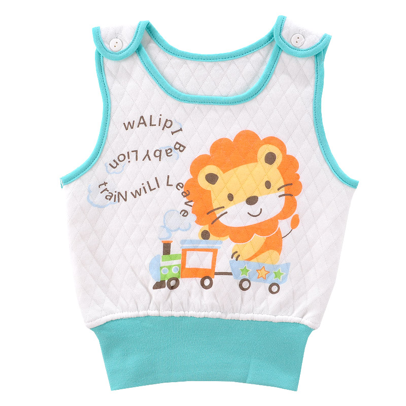 Newborn baby shoulder open vest vest personal care belly waist three warm winter infant baby sleeveless vest tops