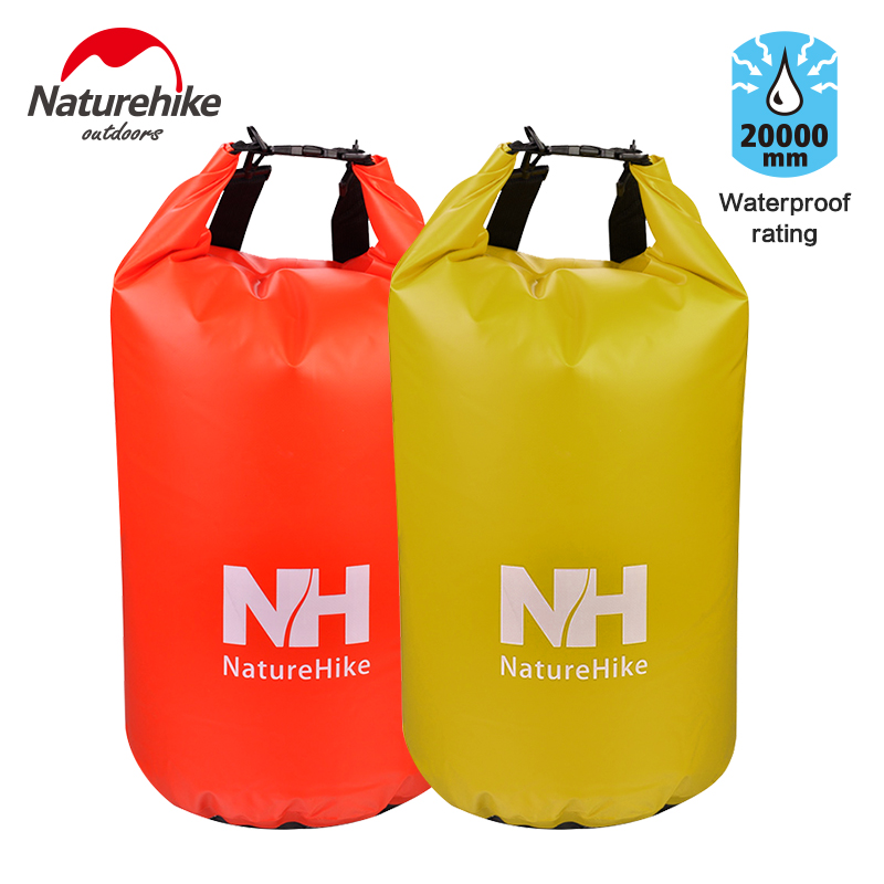 Nh outdoor sealed waterproof bag drifting upstream swimming beach swimming bag waterproof clothing storage bag with shoulder strap