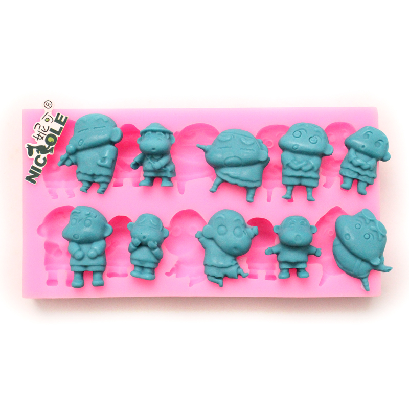 Nicole diy10 even baking crayon cartoon fondant cake decorating mold silicone mold resin flower polymer clay mold