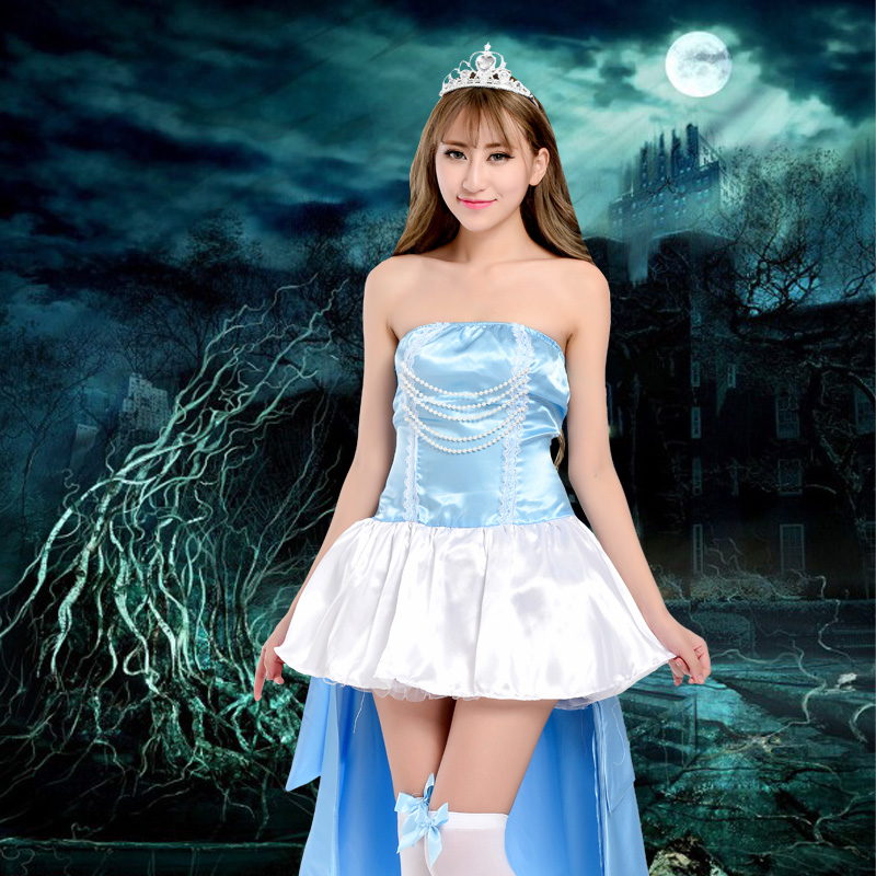 Nightspots new adult costume halloween costume disney snow white princess dress skirt table playing dress costumes ds