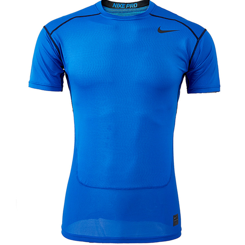 Nike nike dri-fit pro tights male perspiration wicking elastic fitness training short sleeve 826592-480