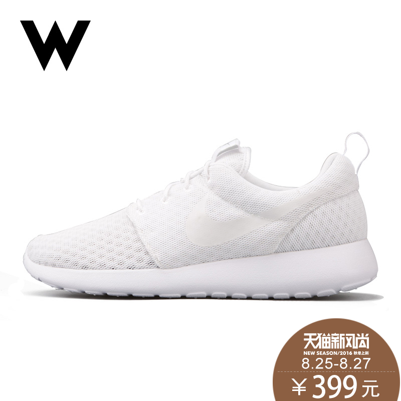 f538f307d2f7 Get Quotations · Nike nike roshe run one black and white men s casual  sports running shoes 718552-