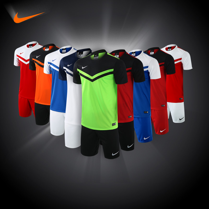 Nike soccer jersey short sleeve jersey football clothes suit male custom counter genuine ni ke soccer jersey training suit