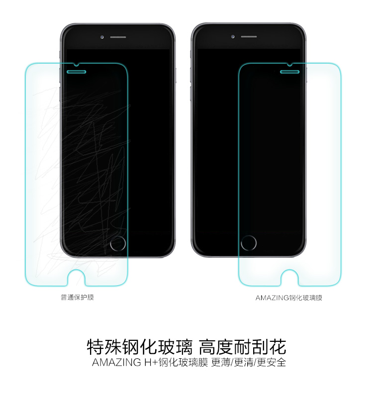 Nile gold iphone6 glass membrane apple 6 tempered glass membrane film arc edge proof membrane foil iphone6s