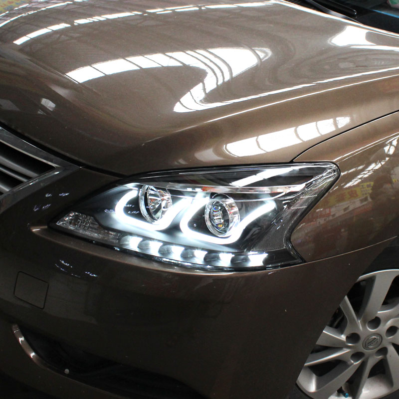 Nissan sylphy new sylphy dedicated led daytime running lights modified xenon headlight assembly bifocal lens led tears