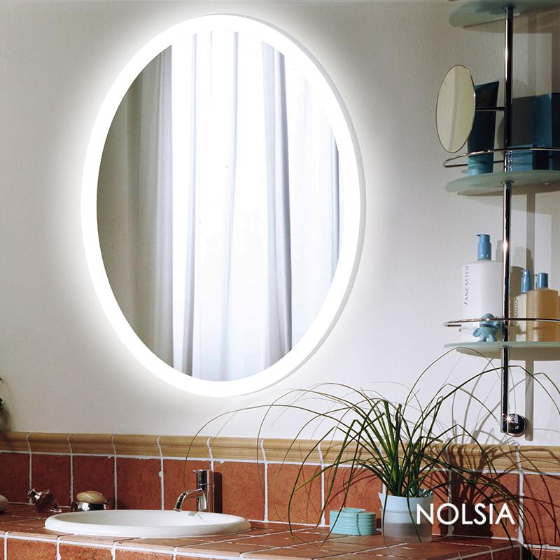 Nolsia Oval Bathroom Mirror Led Lighted Makeup Mirror Modern European Bathroom  Mirror Bathroom Mirror Wall
